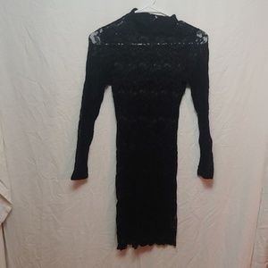 Wet Seal black lace bodycon dress